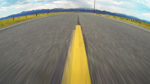 Speeding Down Open Road At 60fps stock footage