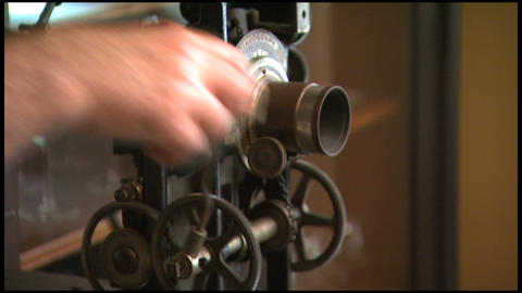 Old Crank Movie Projector 1 Stock Video Footage