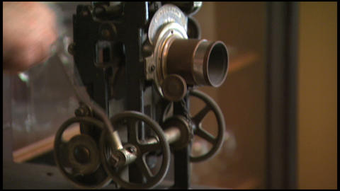 Old Crank Movie Projector 1 stock footage