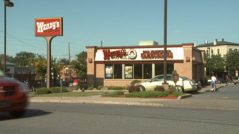 Wenys Fast Food 1 stock footage