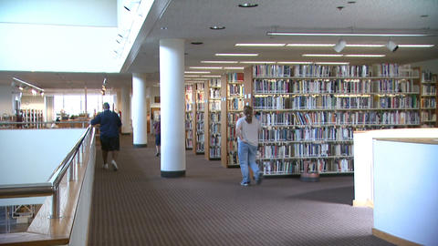 Library 1 stock footage