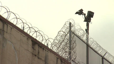 Jail 7 Barbed Wire Two Clips In One stock footage