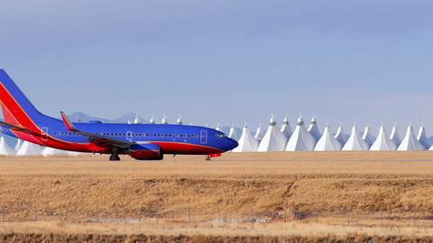 Airplane Landing at Airport Footage