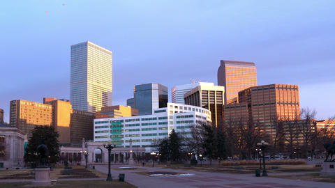 Denver Skyscrapers in Bright Sun Footage