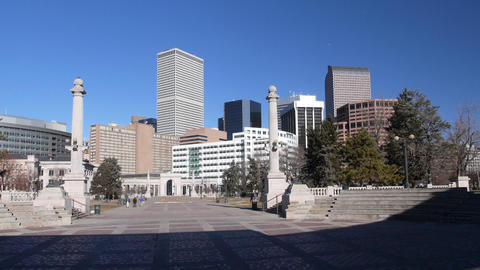 Civic Center Park in Denver Colorado USA Footage