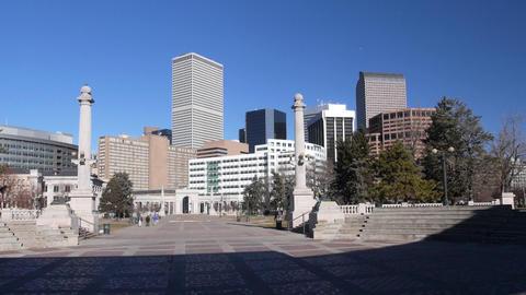 Civic Center Park in Denver Colorado USA Footage
