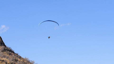 Paraglider Descent Footage