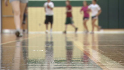 Exercise Gym Class 2 stock footage