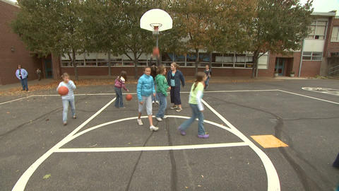Kids On Playground 7 stock footage
