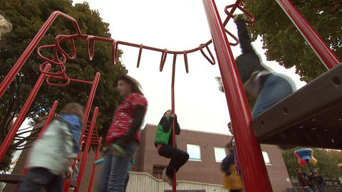 Kids On Playground 6 Footage