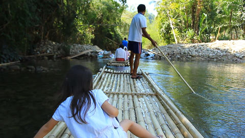 Bamboo Rafting In The Tropical Forest 0