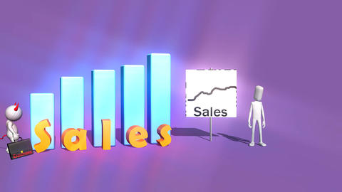 Expenses Attack: Sales Animation Animation