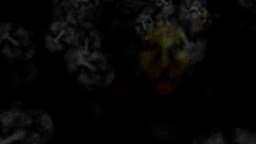 Ghostly Creatures And Fog Faces: Looping stock footage