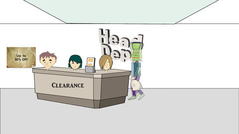 Shopping For Heads: Animation stock footage