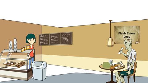 Zombie Cafe Animation
