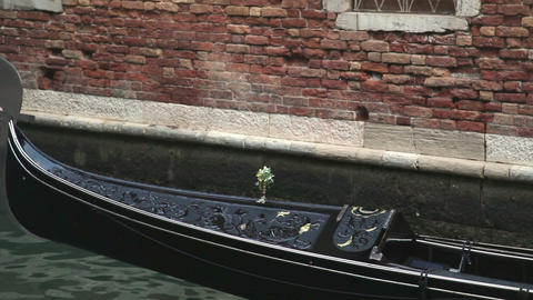 Moving gondola in Venice Footage