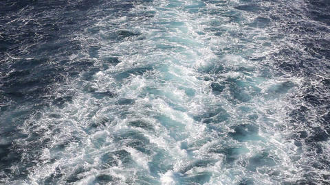 Water Splashes After Passenger Ferry stock footage