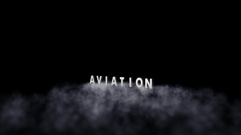 Aviation: Jet Fly-By with Title (Alpha Channel Ver Animation