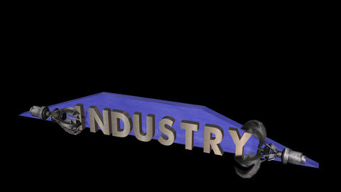 Industry: Title Animation (Alpha Channel) Animation