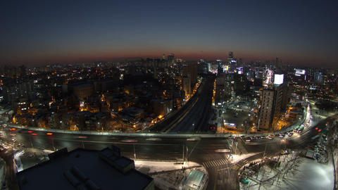 Seoul City 117 Zoom stock footage