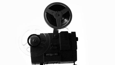 Silhouette Of Old Projector Showing Film stock footage