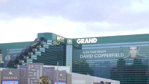 LAS VEGAS - CIRCA 2014: MGM Grand Hotel & Casino o Footage