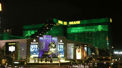 LAS VEGAS - CIRCA 2014: The MGM Grand Hotel & Casi stock footage