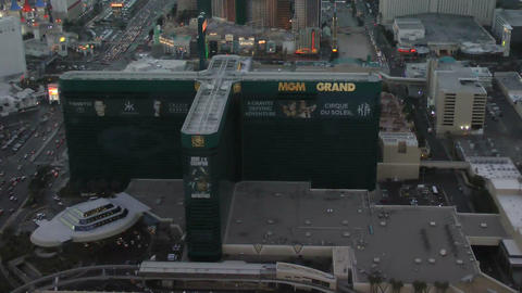 LAS VEGAS CIRCA 2014: Aerial View Of MGM Grand Hot stock footage