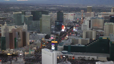 LAS VEGAS - CIRCA 2014: Aerial View Of The Strip S stock footage