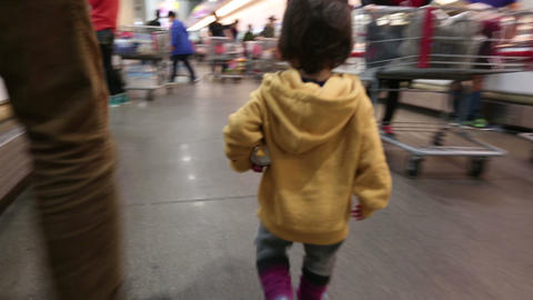 Baby Toddler At The Store 4 Footage
