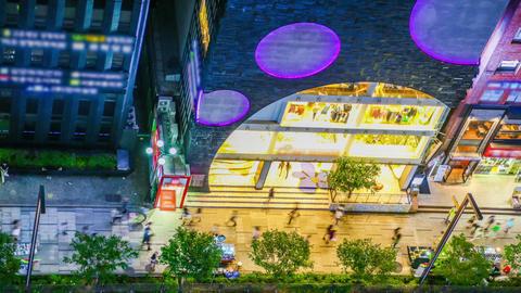 Seoul City 265 Gangnam Illuminated Buildings Footage