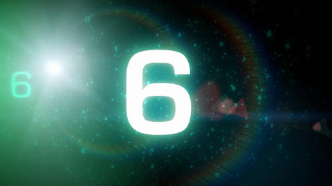 Space countdown Stock Video Footage