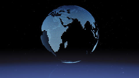 blue chrome earth loop Stock Video Footage