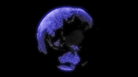 Earth glow blue Stock Video Footage