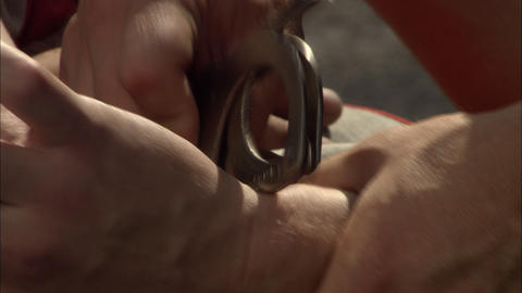 Handcuffs Stock Video Footage