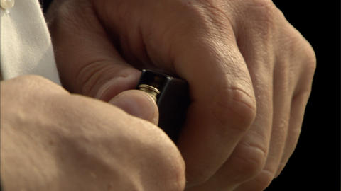 Loading handgun cartridge Stock Video Footage