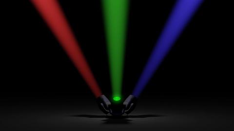 Spotlights rotation Stock Video Footage