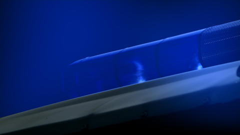 Blue police light Footage