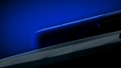 Blue police light Stock Video Footage