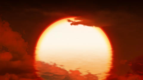 Red sunset Stock Video Footage