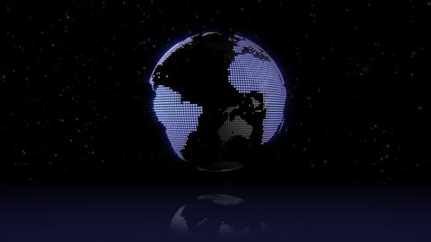 Chrome blue earth Animation