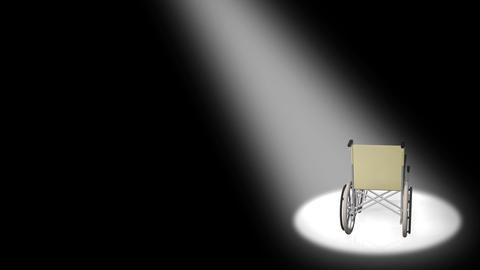 Wheelchair Corner D Stock Video Footage