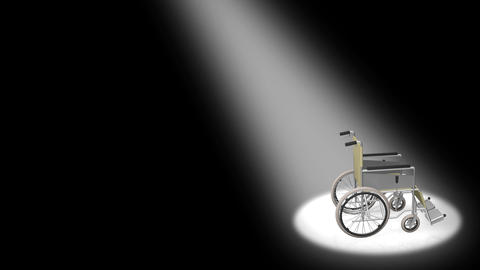Wheelchair Corner D Stock Video Footage