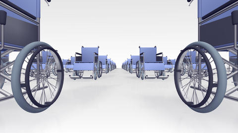 Wheelchair Line2 B Stock Video Footage