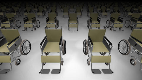 Wheelchair Much1 D Stock Video Footage