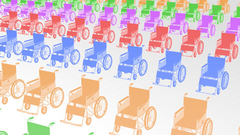 Wheelchair Much2 I Stock Video Footage