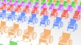Wheelchair Much2 I stock footage