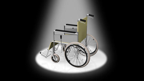 Wheelchair Rotate D Animation