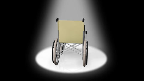 Wheelchair Rotate D Stock Video Footage