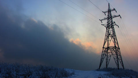 Power Lines 1 Stock Video Footage